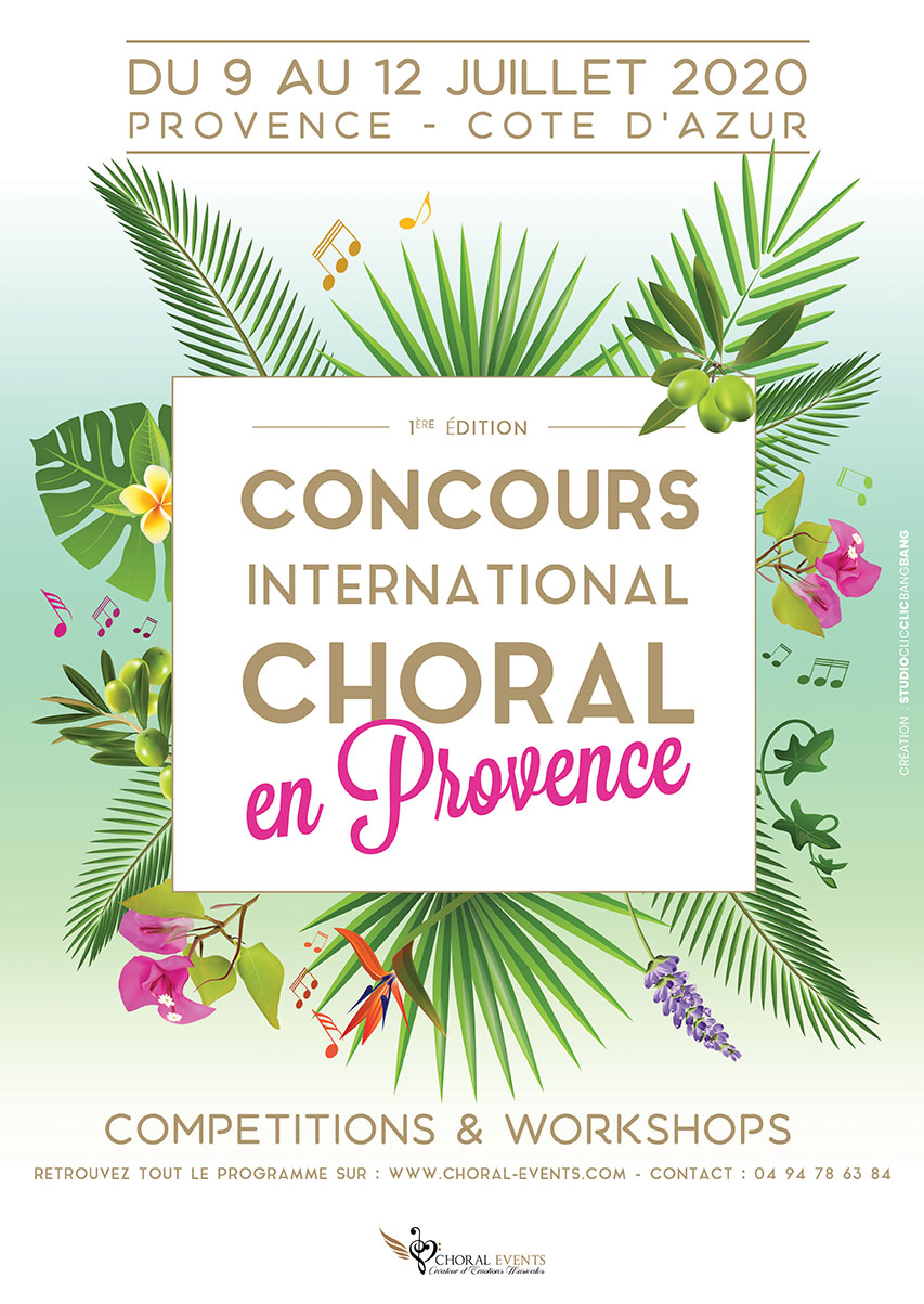 2020 International Choir Competition in Provence | Choral Events